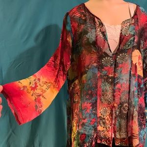 Gorgeous Chico's Long sleeved silk top.